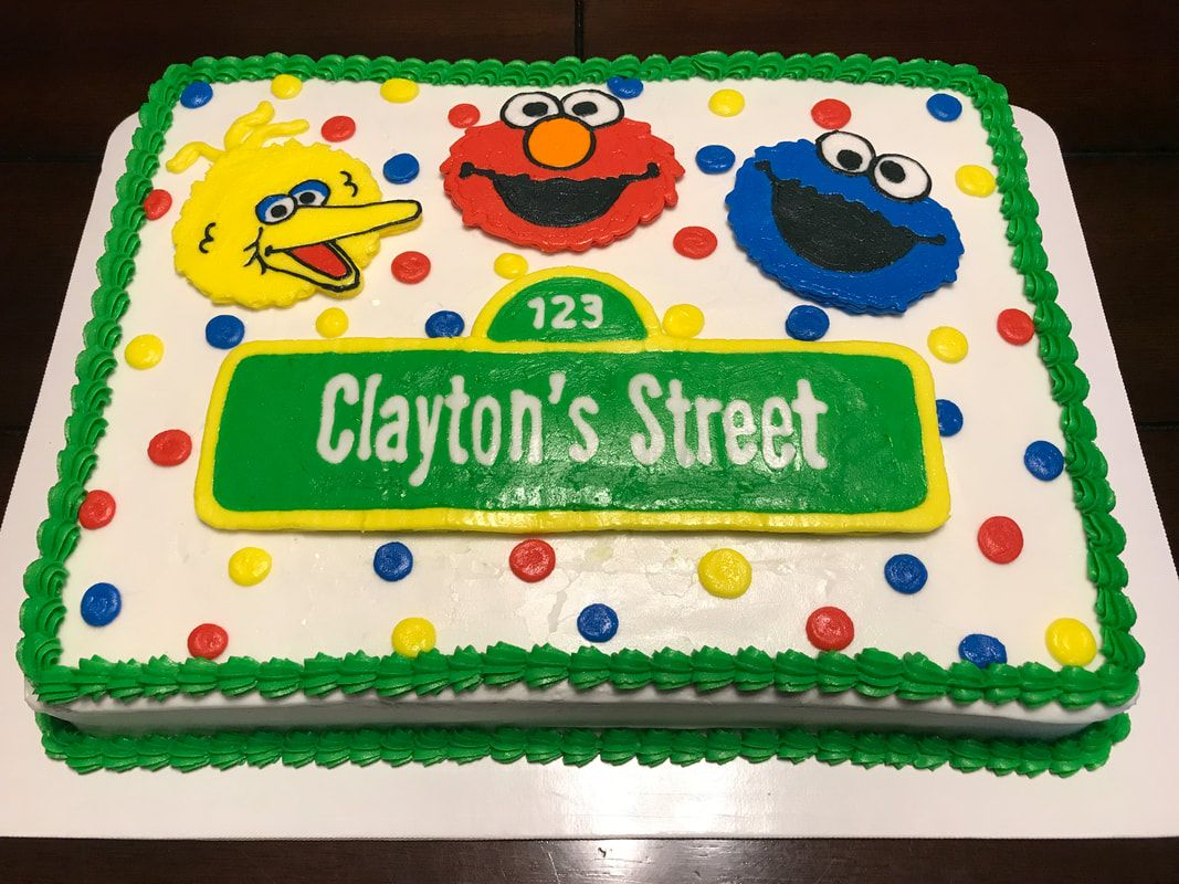 Sesame Street Birthday Sheet Cake With Images Sesame Street