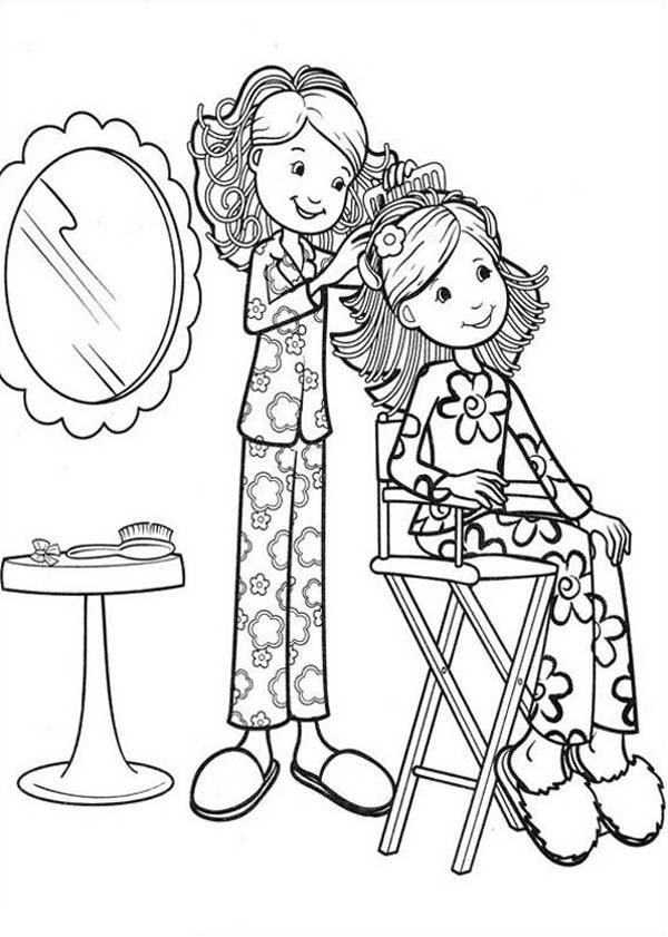 Groovy Girls Hairdressing For Friend Coloring Pages Jpg 600 841 Coloring Pages Color Groovy
