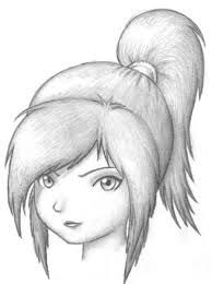 Sketch Of A Beautiful Girl Girl Face Drawing