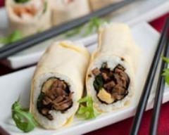 Wraps façon sushis