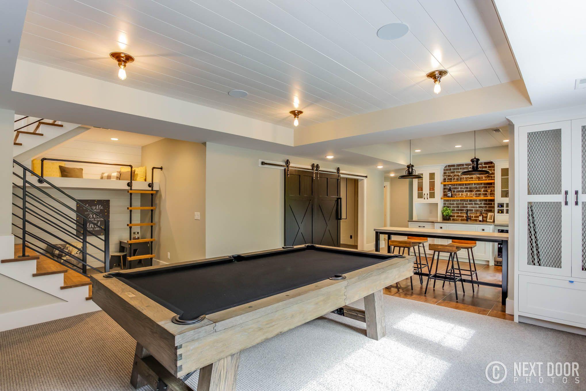 Modern Farmhouse, Basement Decor, Basement Kitchenette, Grandchild Decor