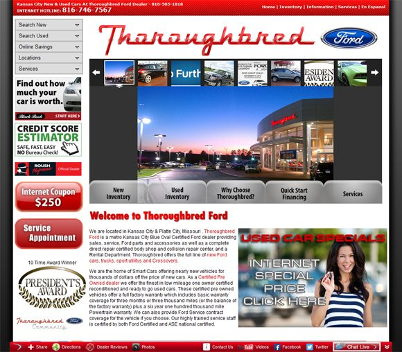 Thoroughbred Ford Web Site Design Website Design Website Design Company Web Design