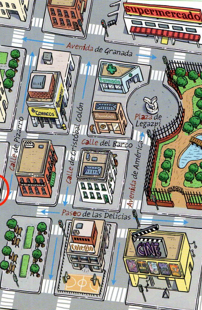 Plano ciudad   Ciudad y campo   Pinterest   Spanisch, Wortschatz und ...