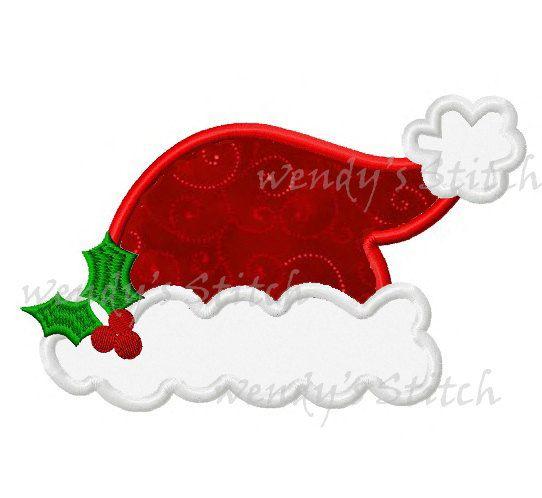 88024c46306 Christmas Santa hat applique machine embroidery design