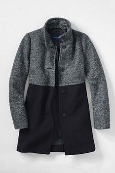 Womens tall black wool coat
