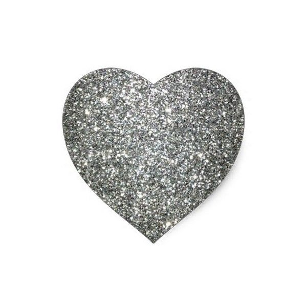 Silver Glitter Glamour Heart Sticker 4 81 Liked On Polyvore Featuring Home Home Decor Heart Home D Silver Home Accessories Silver Glitter Heart Stickers