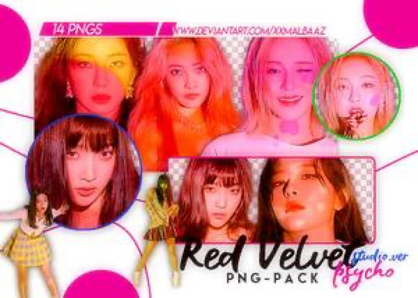 Png Pack Red Velvet Psycho Studio Ver By Xxmalbaaz On Deviantart Red Velvet Red Velvet