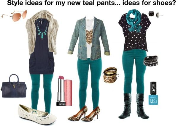Outfit teal jeans Skinny
