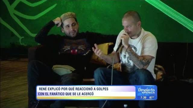 René Pérez Calle 13 explica  por qué agredió a golpes a un fan VIDEO   http://ow.ly/vmAhQ