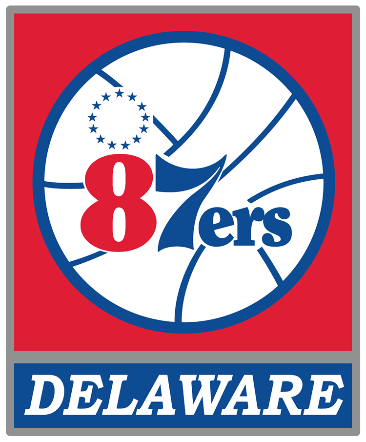 Delaware 87ers Primary Logo (2012/13Pres) 76ers