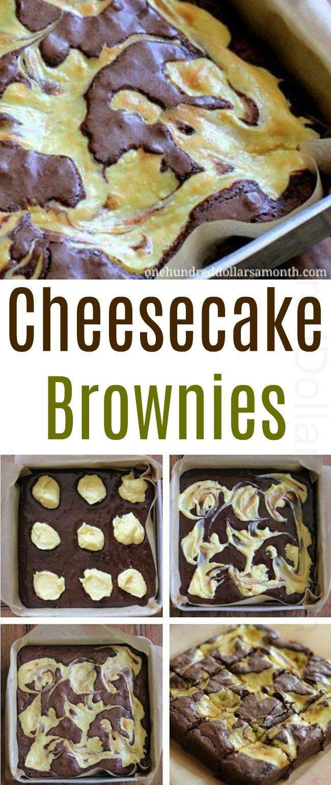 Easy Dessert Recipes - Cheesecake Brownies -