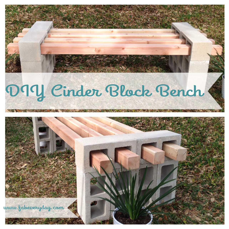 Sensational Diy Cinder Block Bench Diy Projects Arts Crafts Creativecarmelina Interior Chair Design Creativecarmelinacom