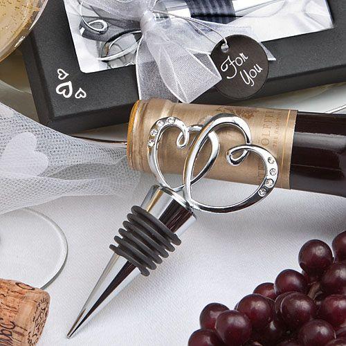 Heart Design Bottle Stopper Wedding Favors Someday My Boys Will