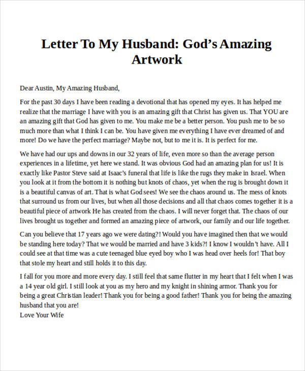 sample love letters to my husband - Josemulinohouse