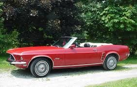1968 Red Mustang My First Car Was A 1968 Forest Green Mustang With A Black Vinyl Top And An Awesome Sound System Bb With Images Red Mustang Green Mustang New Mustang