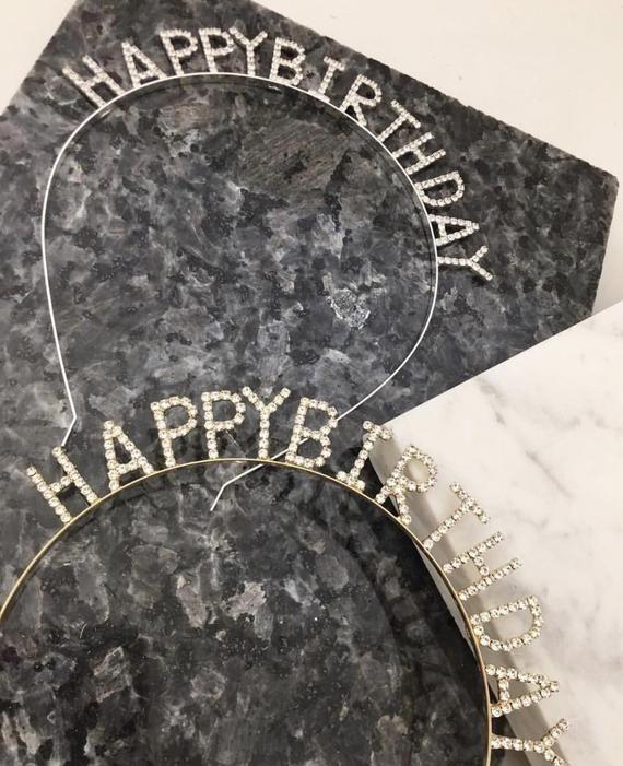 Crystal Fine Crown Headband / Hair Accessory Crystal Birthday Headband / Birthday Gift / Crystal Party Headband / Birthday Party Hair Gift #crownheadband