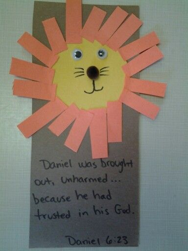 Daniel And The Lion S Den Craft Bible Crafts Preschool School