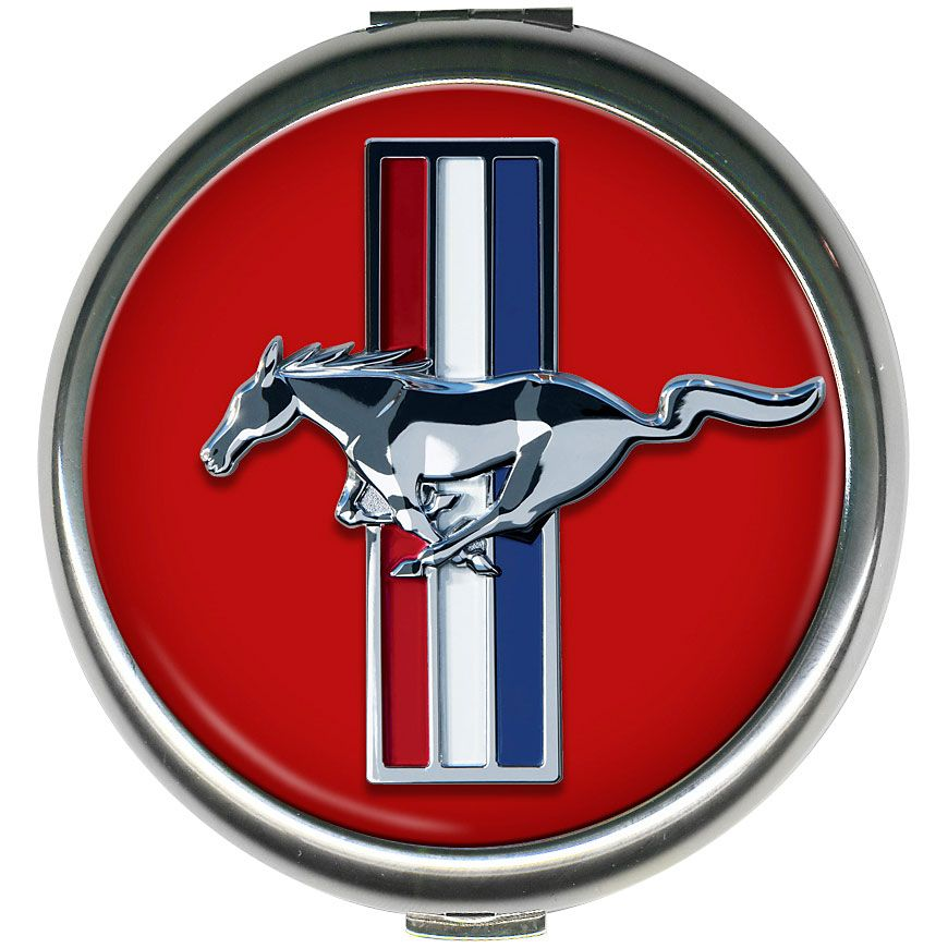 Ford Mustang Round Compact Mirror, Happy 50th Birthday To