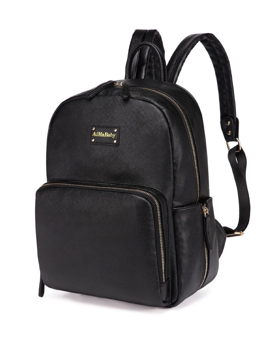 The Adjustable Straps On This Bag Are Padded For Extra Comfort There Are Lots Of Poc Leather Diaper Bag Backpack Faux Leather Rucksack Leather Diaper Backpack