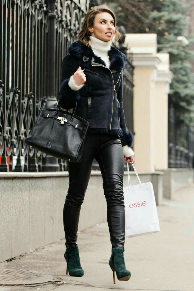 Outfit Leggings Boots
