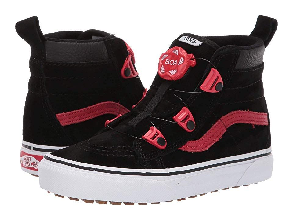 c56943ab34a4 Vans Kids SK8-Hi MTE Boa (Little Kid Big Kid) Boys Shoes (MTE) Black Racing  Red