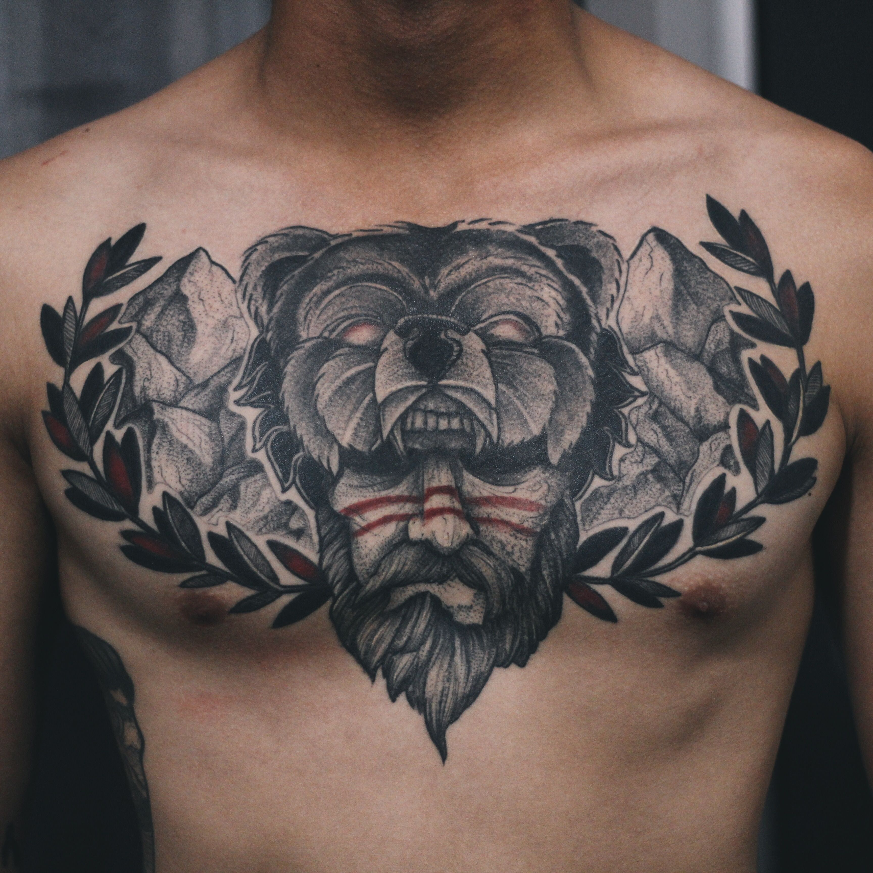 tattoos of bear paws | Posts related to tribal bear paw ... |Indian Tattoos Bear Sitting