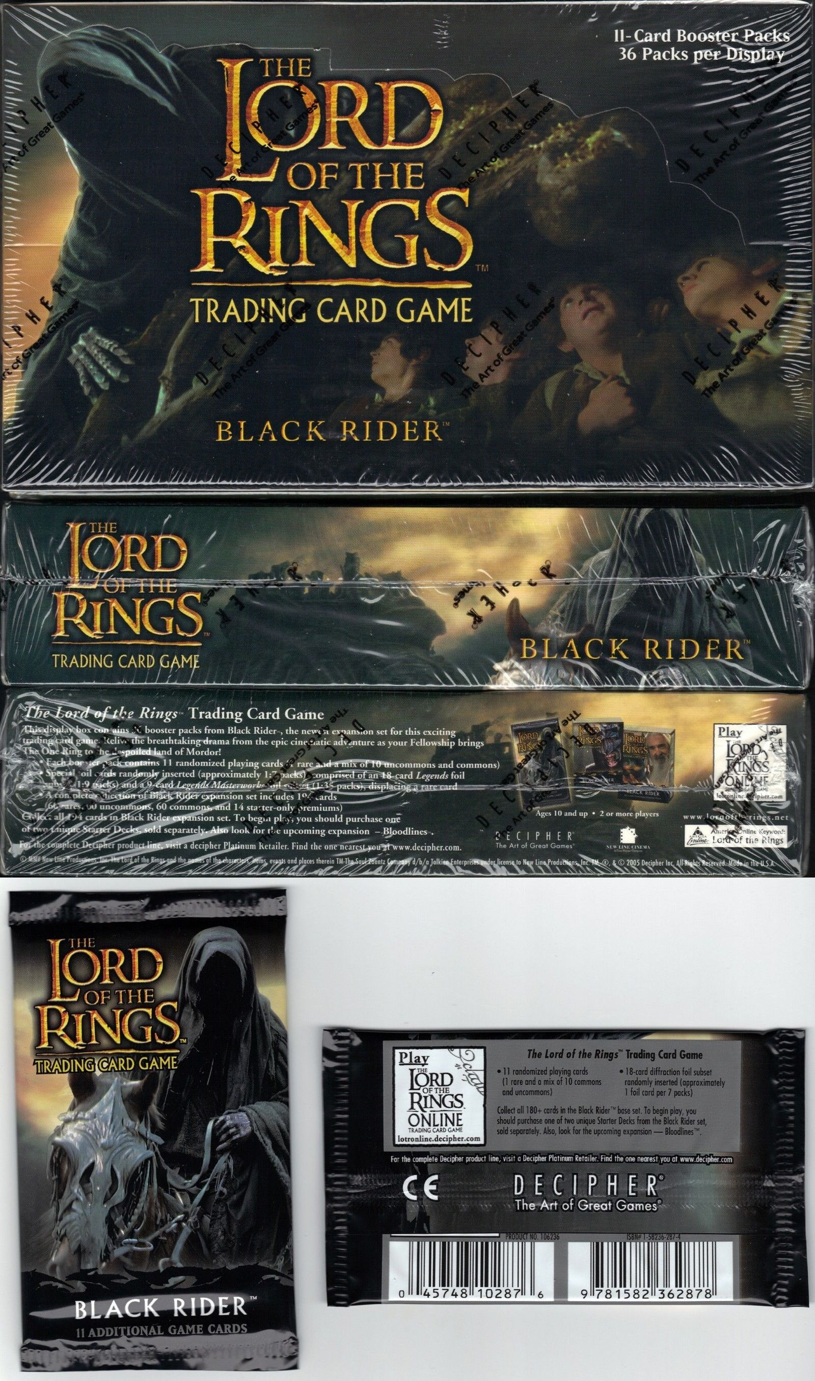 BOOSTER PACKS Fellowship of the Ring LOTR : LORD OF THE RINGS NEW//SEALED