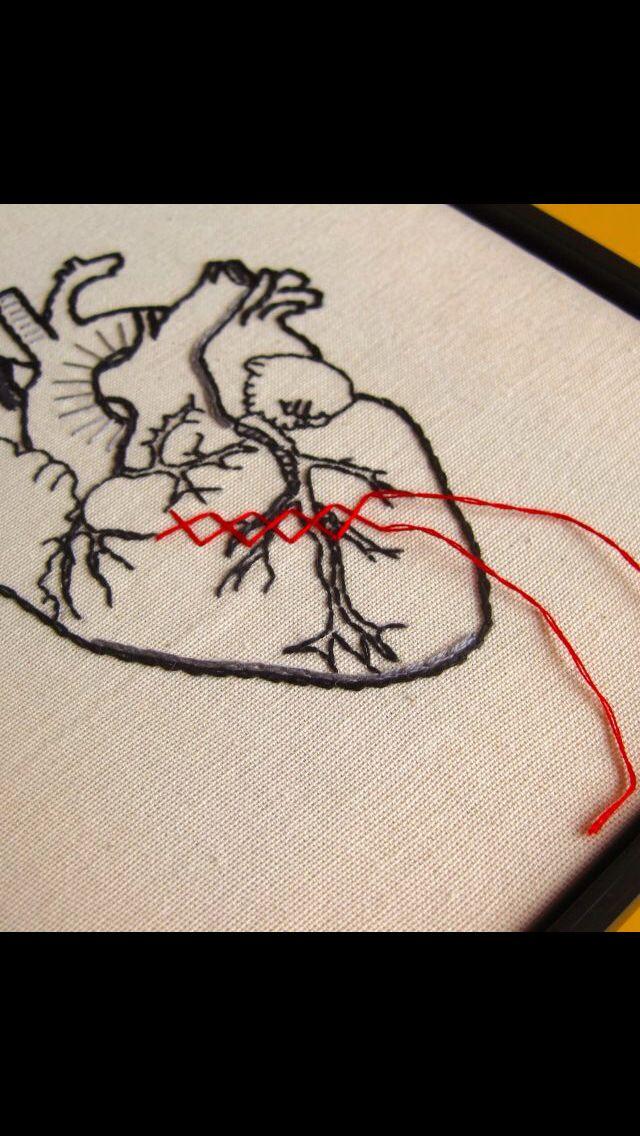 bordado coração II