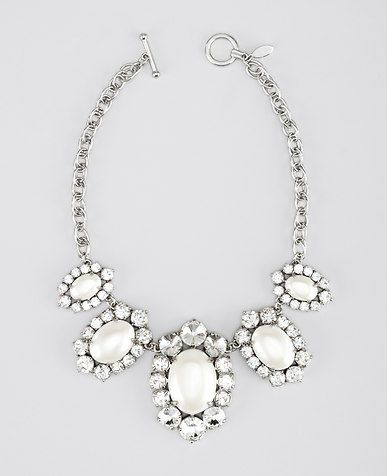Oval Pearlized Statement Necklace