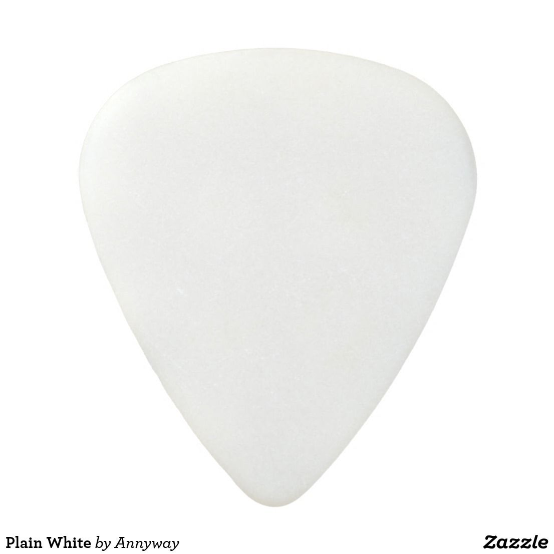 plain white acetal guitar pick random sold items pinterest