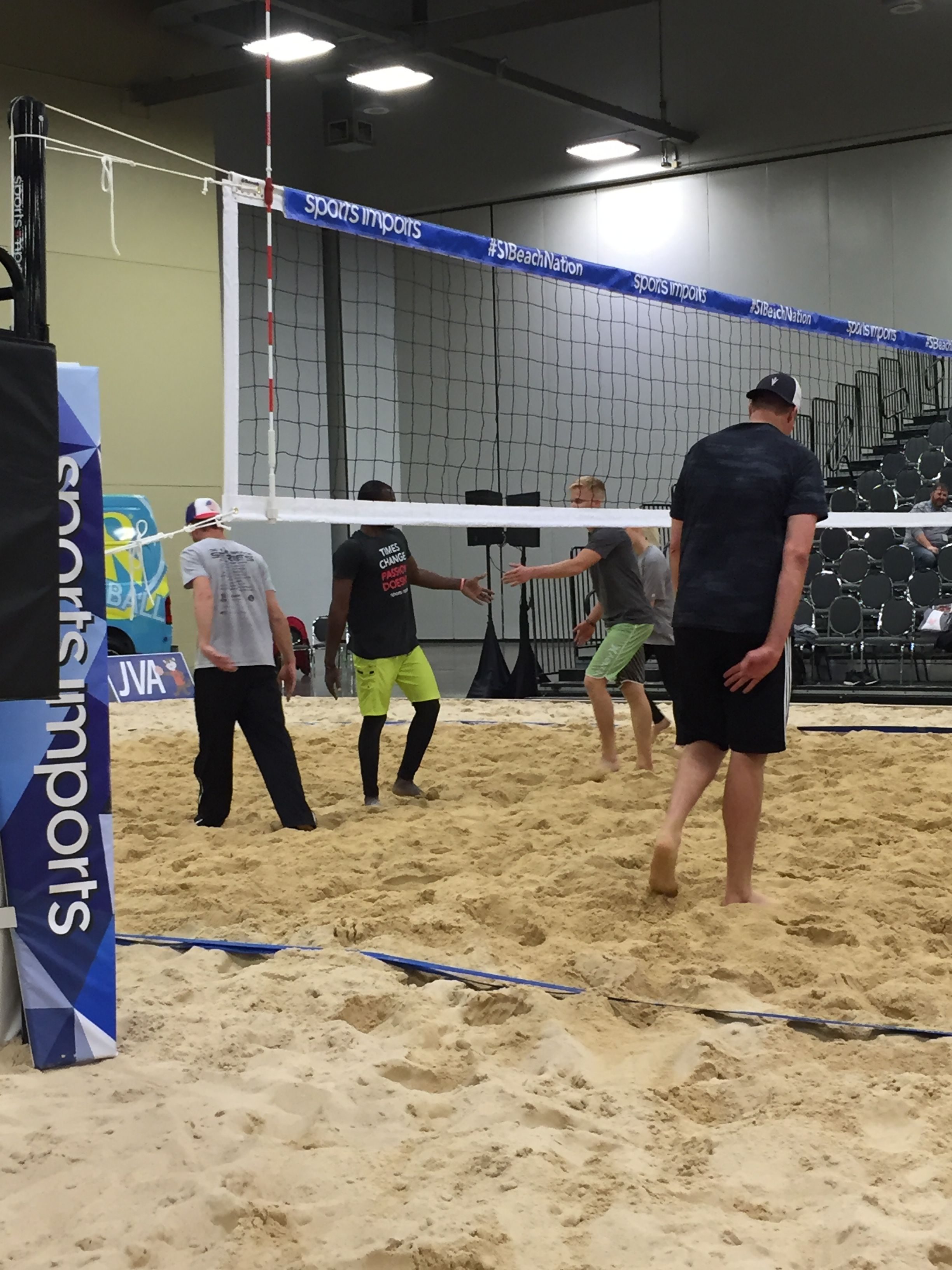 Beach Volleyball At The Avca Convention Volleyball Volleyball Net Volleyball Equipment
