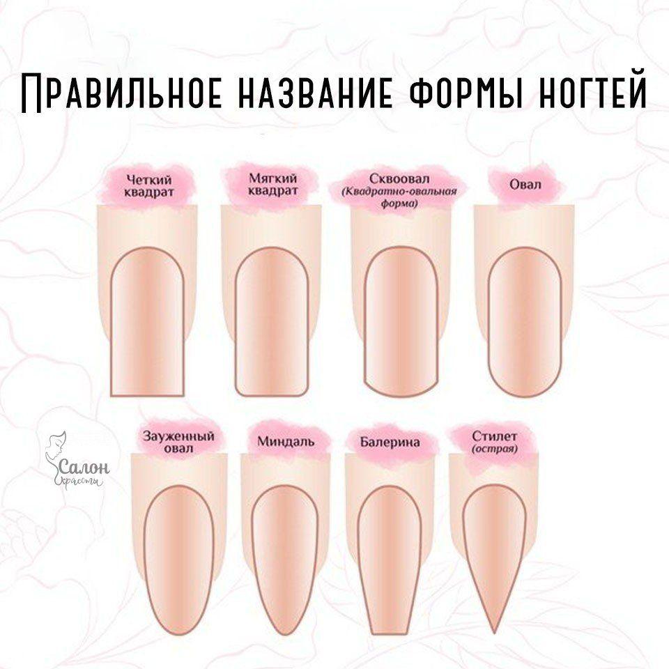 Теперь вы будете знать все формы ногтей, которые е