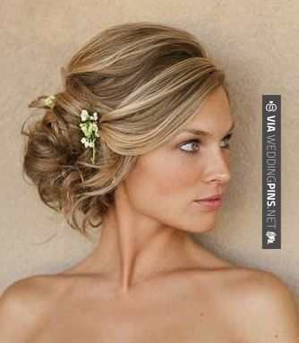 Neat Side Swept Wedding Hair Side Swept Wedding Hairstyles Long Hair Side Updos Hot Trend For Formal Oc Medium Hair Styles Hair Styles Wedding Hairstyles