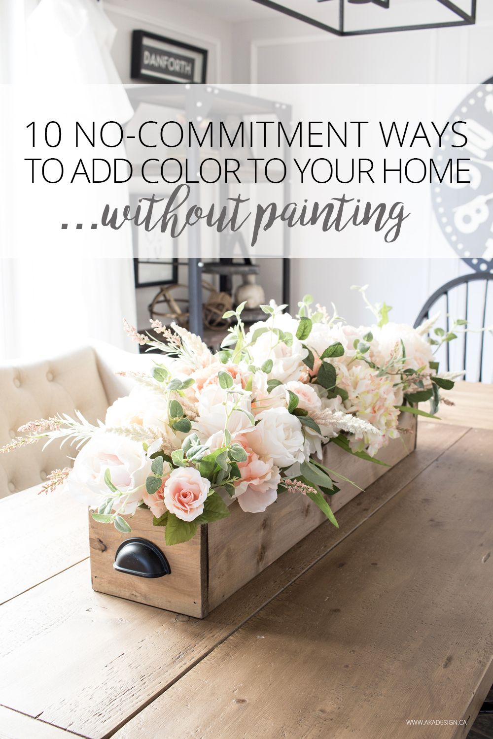 nocommitment ways to add color to your decor without painting