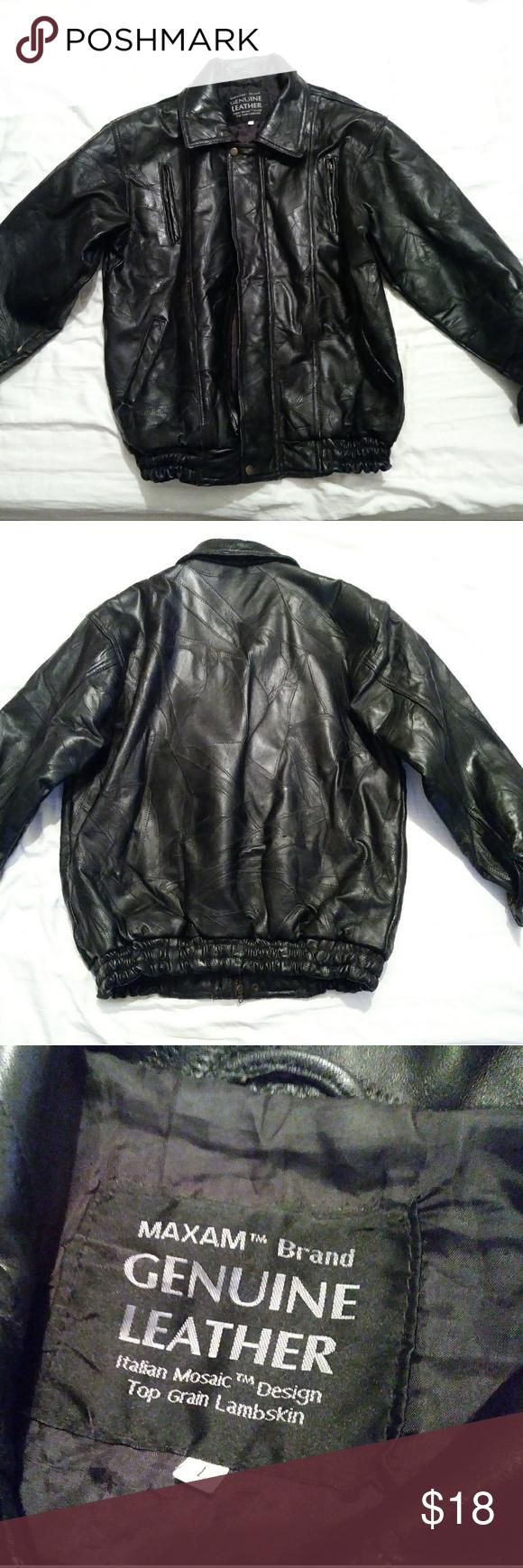 Maxam Genuine Leather black jacket Leather jacket black