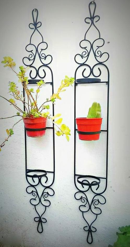 Resultado de imagen para maceteros de hierro lamparas for Muebles de fierro forjado