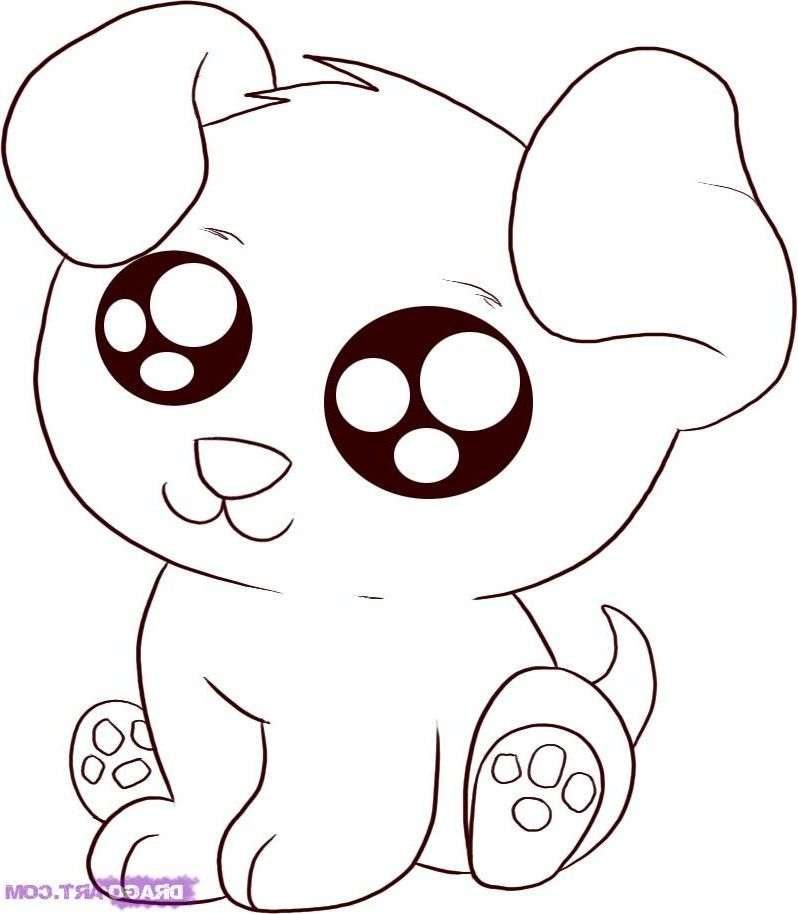 Cute Puppy - Baby Animal Coloring Pages | dibujos blanco negro para ...