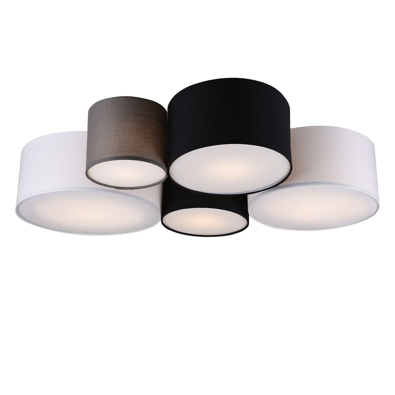 Deckenleuchte Leuchte Design Deckenstrahler Lampe Deckenlampe schwarz Stoff