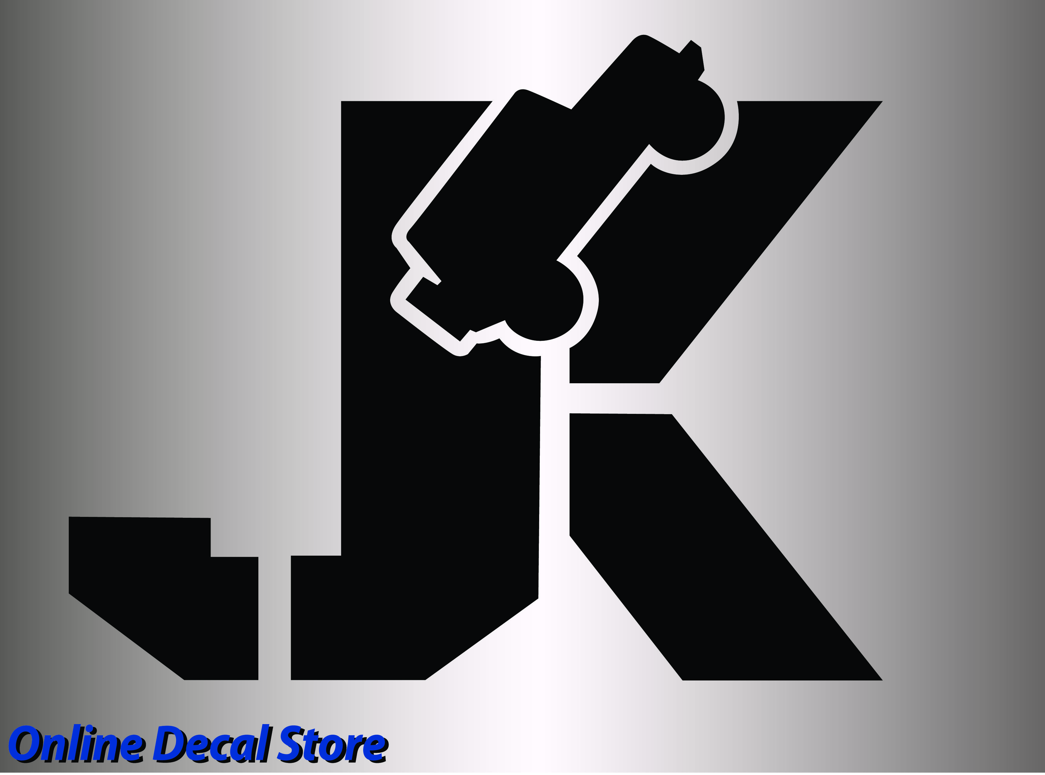 Custom sticker decal jk for jeep for sale on ebay onlinedecalstore