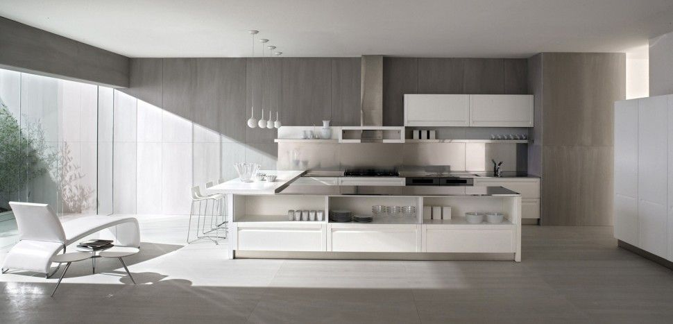 Kitchenbeautiful italian kitchen ged cucine room floor lounge chair glass block bay window barstool