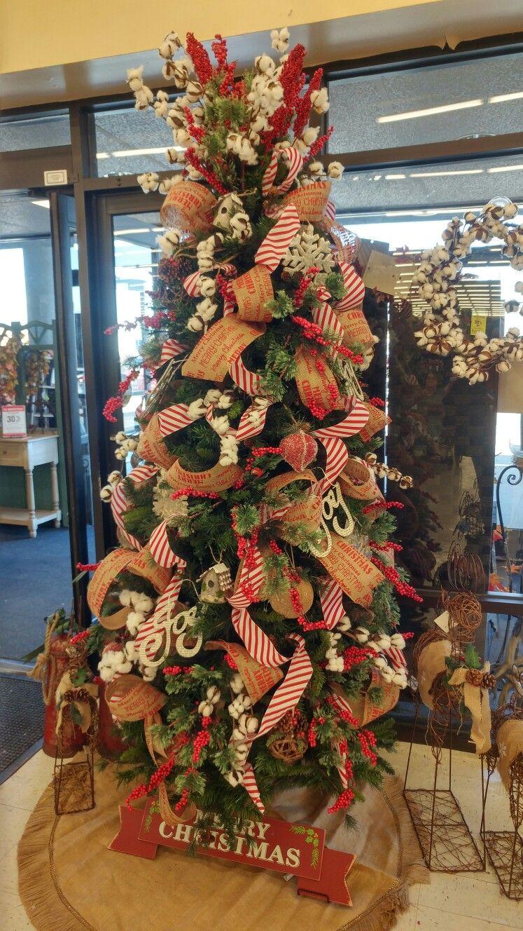 Farmhouse Christmas Tree at Hobby Lobby Hobby lobby