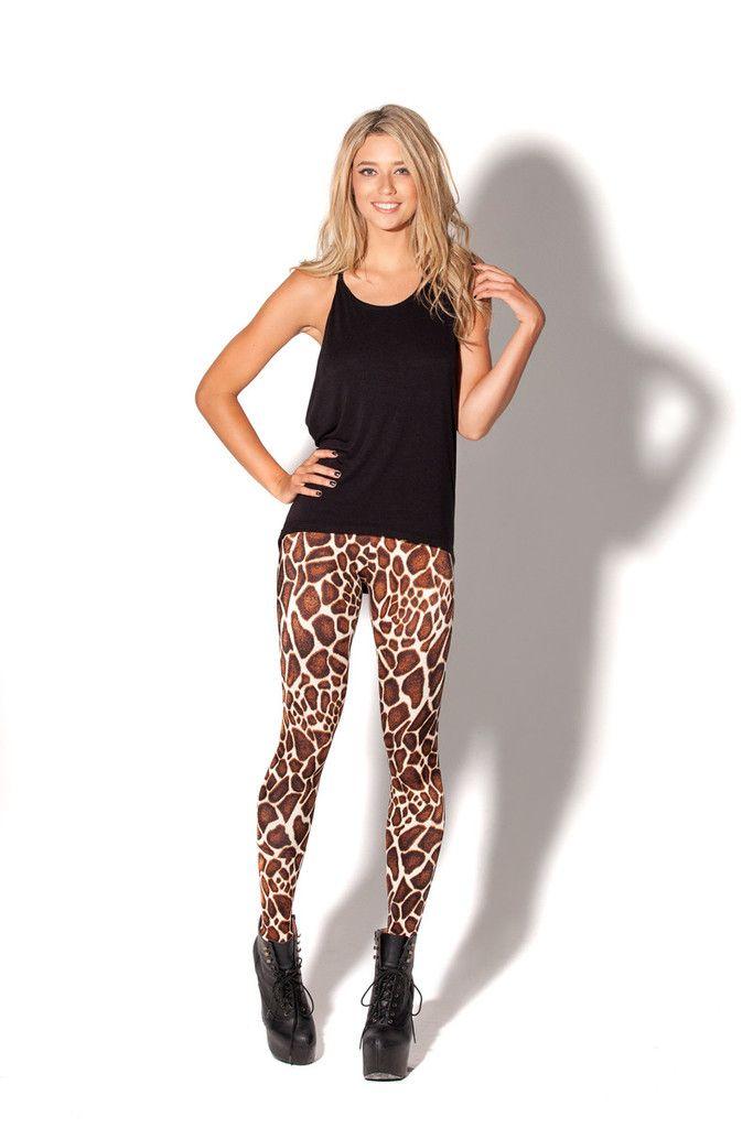 ae3ff883bb52 Baby Giraffe High-Waisted Leggings | Black Milk Clothing | dream ...