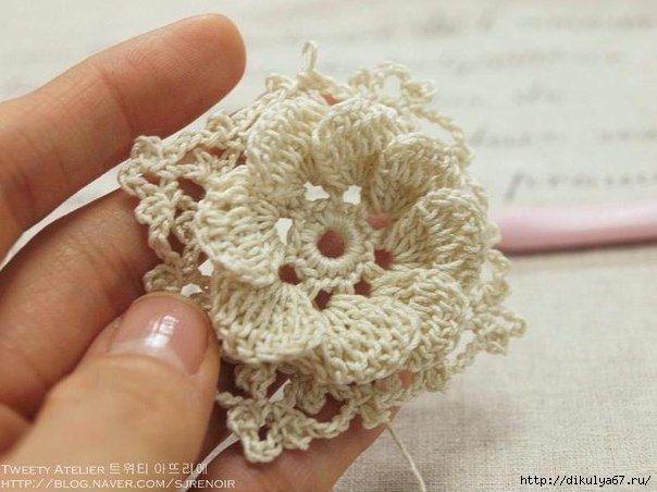 crochelinhasagulhas: Flor de crochê