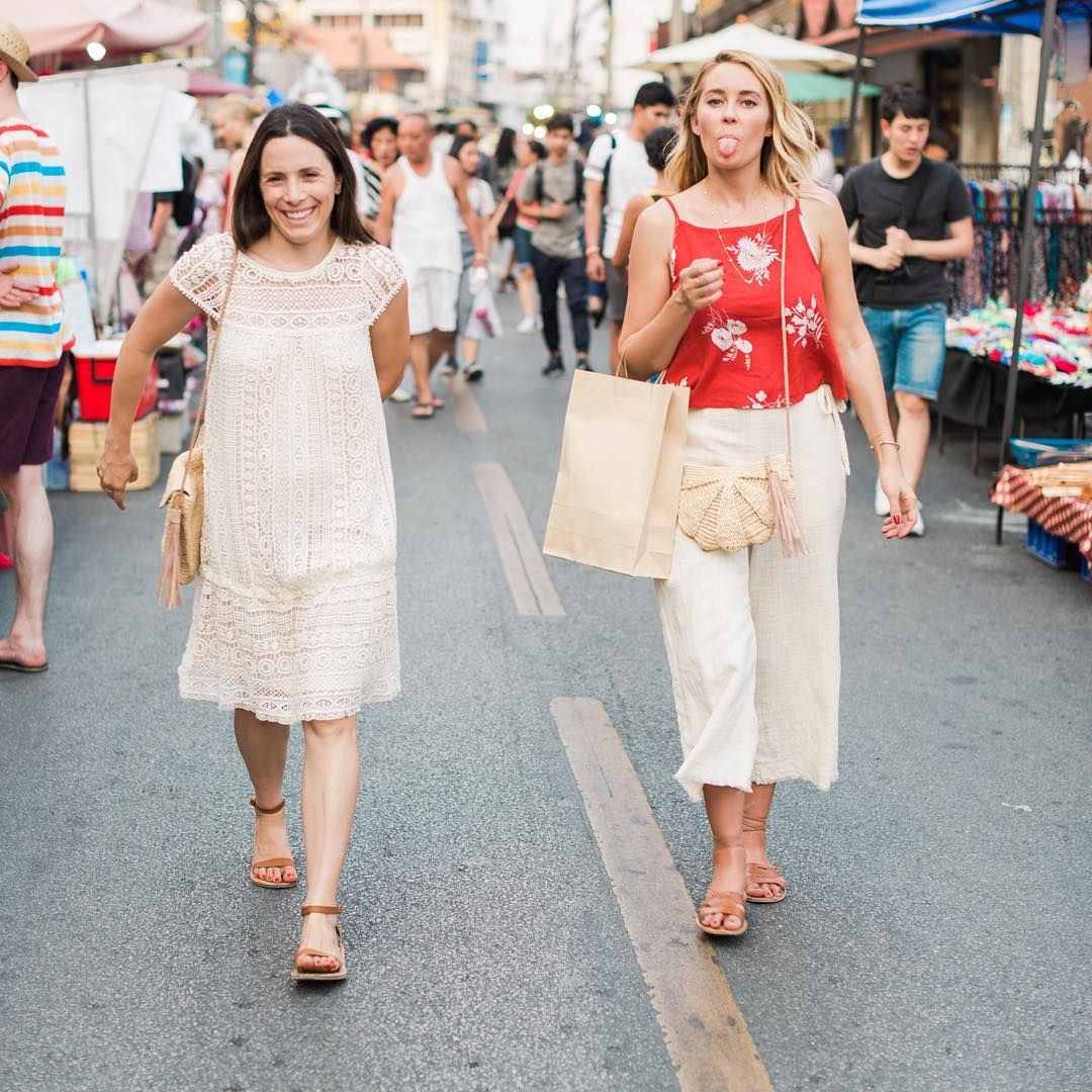 Our co-founders Lauren Conrad and Hannah Skvarla bonded over their shared love of markets, travel, design, and empowering women. :@valoriedarling #thelittlemarket #thailand #travel