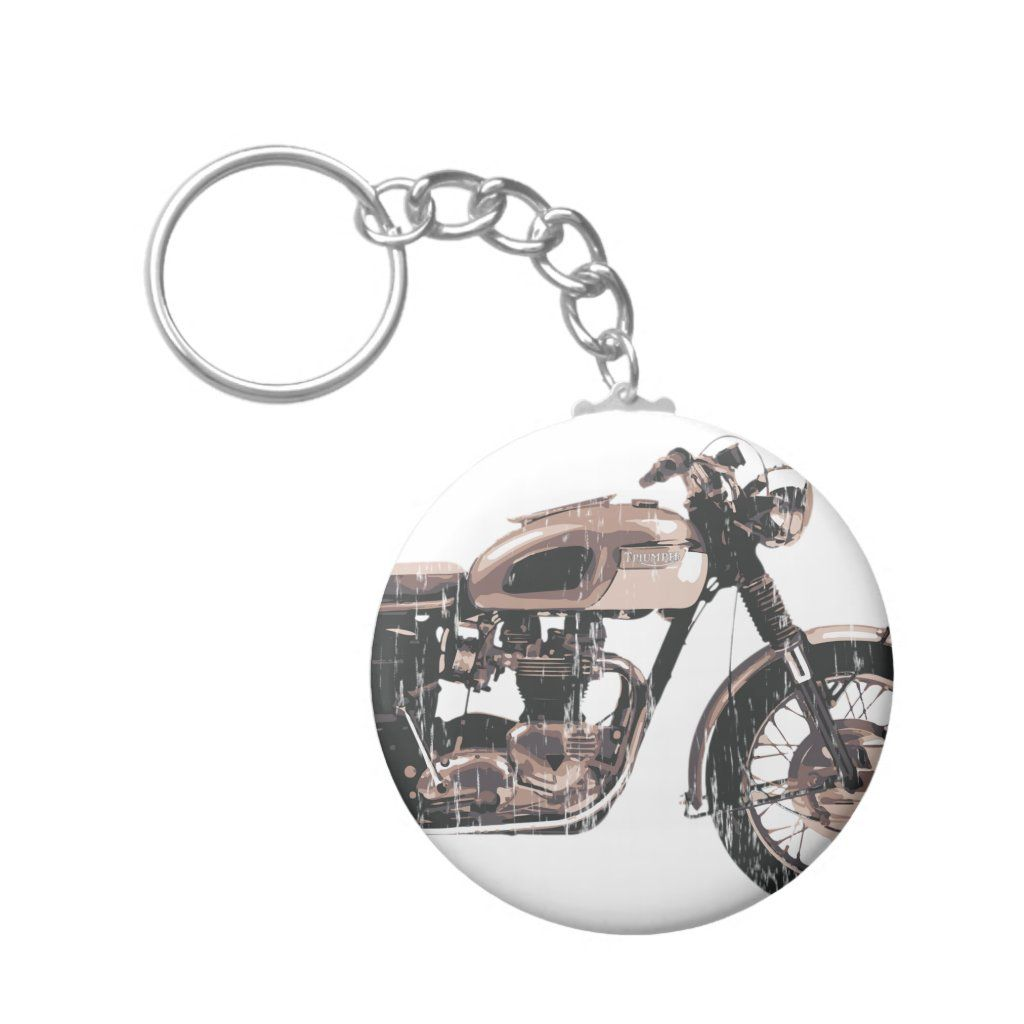 Simply Beautiful Classic Motorcycle Keychain Zazzle Com Motorcycle Keychain Classic Motorcycles Motorcycle Illustration
