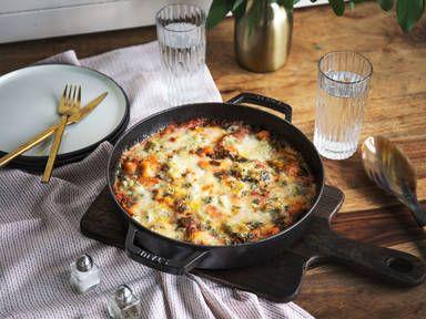 Ofen-Gnocchi mit Gorgonzola und Spinat | Rezept mit Video | Kitchen Stories