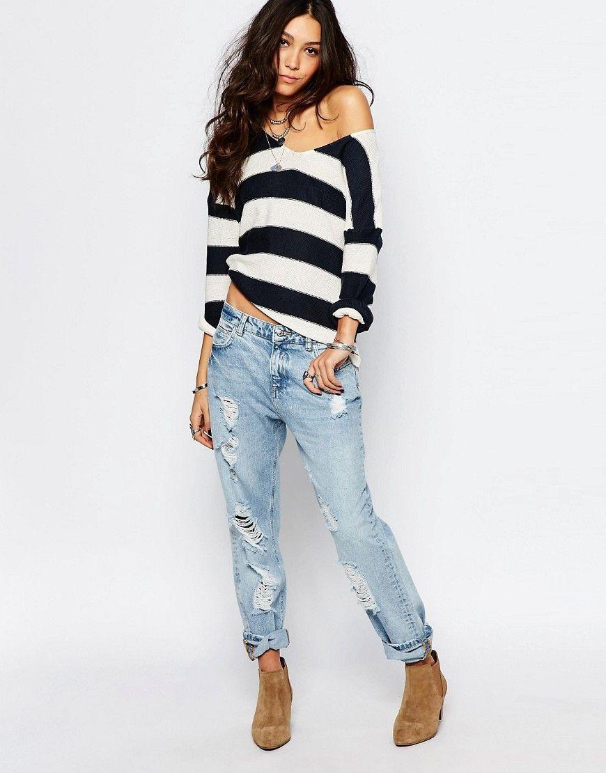 Pimkie – Gebleichte Jeans mit Rissen