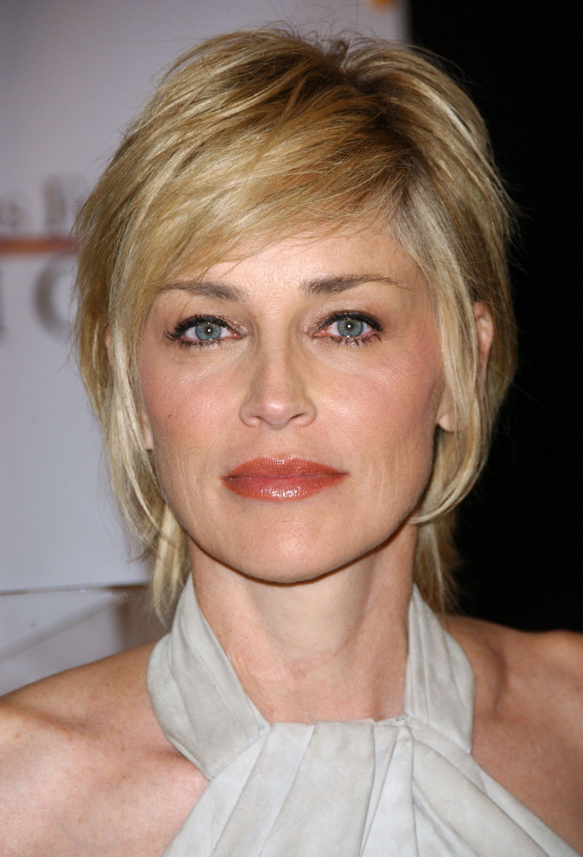 Sharon stone spiky short haircut for older women over 50 getty images - Sharon Stone Hair Cuts