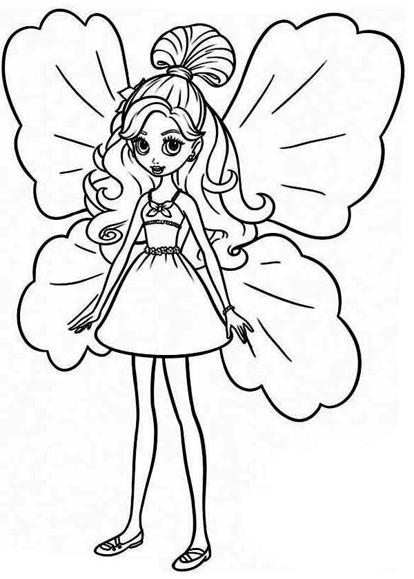 barbie thumbelina coloring pages best