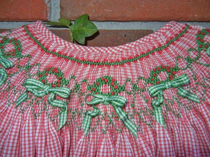 Navideño | Smocking | Smocking patterns, Smocking, Smock dress
